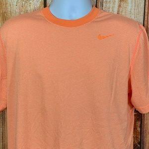 Nike Dri Fit Crew Ring Neck Tee Shirt Size L Strip